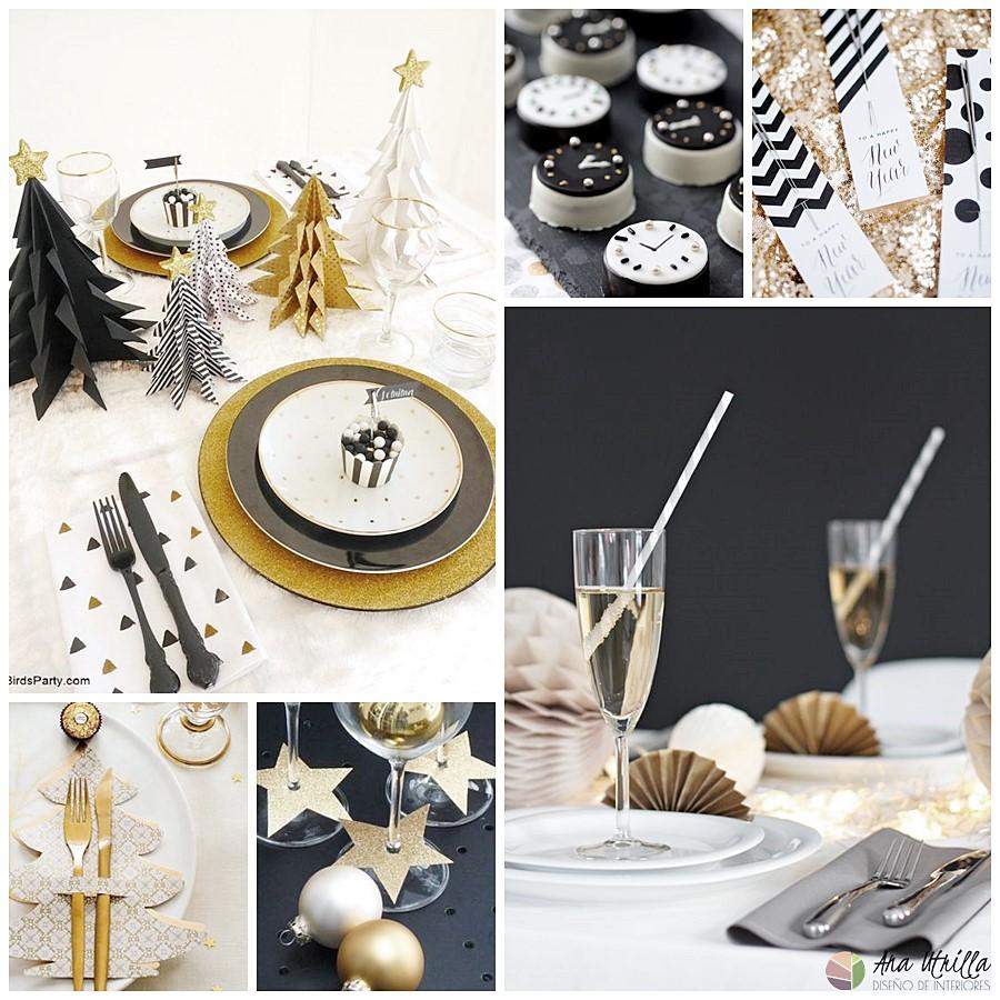 decorar mesa fin de año